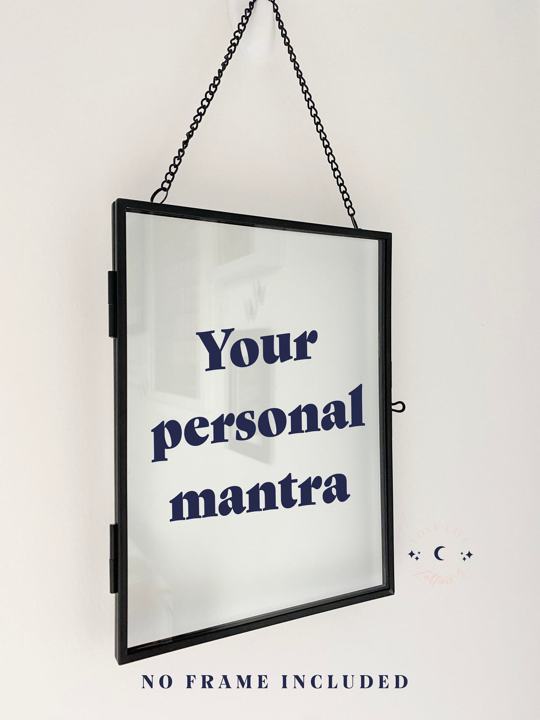 Vinyl Decal Sticker Personal Mantra For DIY Home Decor // Blank Frame Sticker, Add Your Favourite Quote