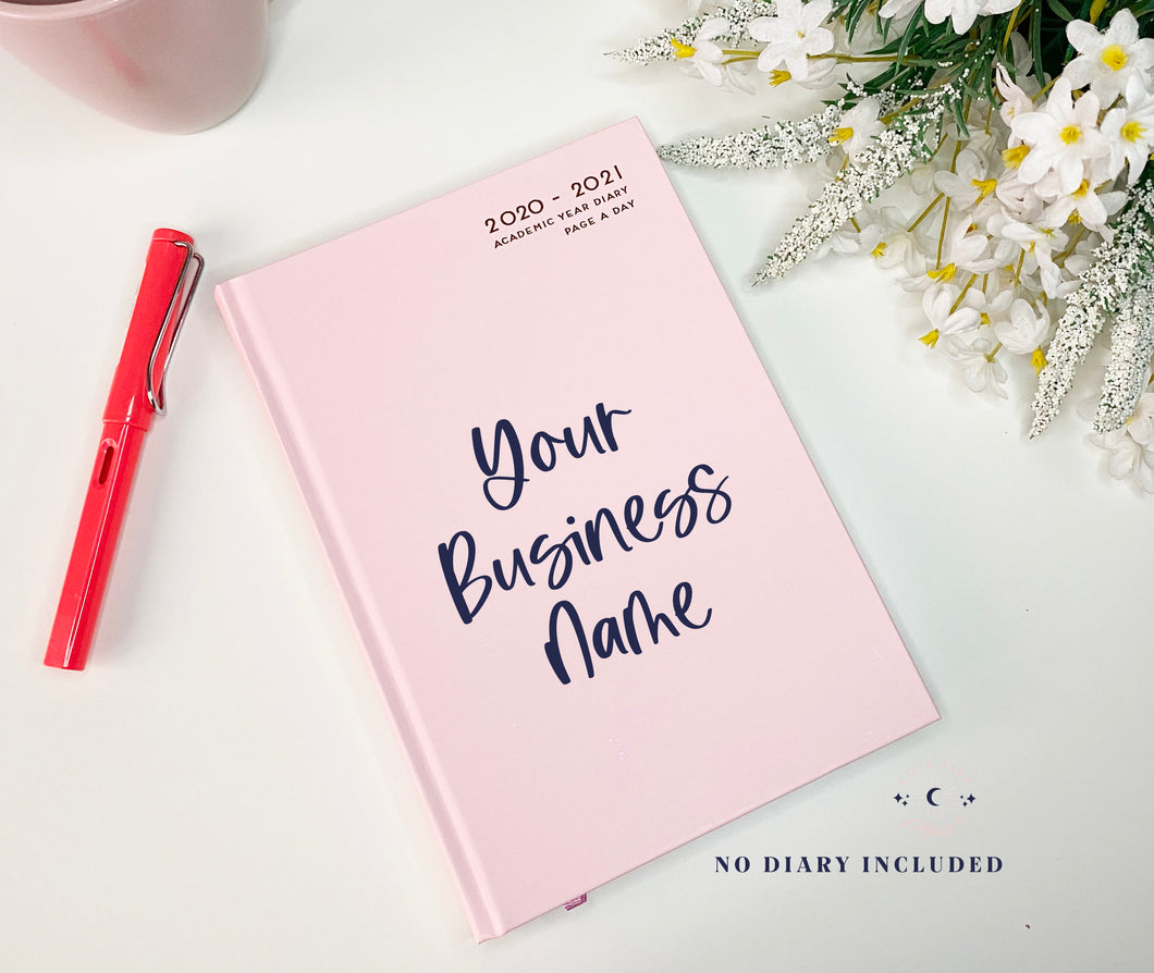 Vinyl Decal Sticker for Small Businesses // DIY Diary Biz Name // Manifest Your Small Business Goals in 2021