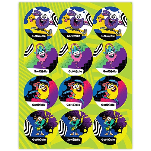 GoNoodle Sticker Sheets (Set of 36)