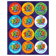 100 Days Stickers Sheets (Set of 36)