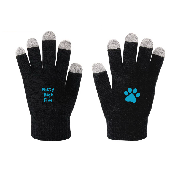 Kitty High Five Winter Gloves