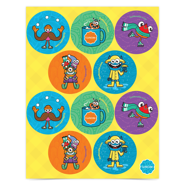 Winter Sticker Sheets (Set of 30)