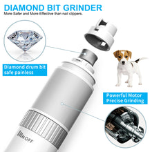 Load image into Gallery viewer, Petural Dog Nail Grinder,Cat Nail Grinder,Powerful Nail Grinder for Dogs Quiet,Speed Adjustable Dog Nail Trimmer,Nail Trimmer for Dogs 20h Working Time Dogs&Cats for Small/Medium/Large