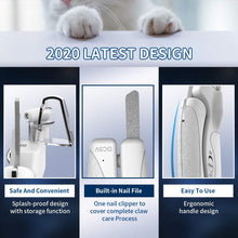 Load image into Gallery viewer, UK-Dog Nail Clippers, Cat Nail Clipper with Rechargeable LED Light, Avoid Over Cutting, Safety Lock, Built-in File, Sharp Blades and Non-Slip Handle Pet Nail Clippers for Large Dog, Small, Medium Breeds