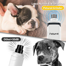 Load image into Gallery viewer, UK-Petural Pet Dog Nail Grinders, Upgraded LCD Electric Cat Nail Clippers Rechargeable Pet Nail Trimmer Low Noise Painless Smoothing Dog Nail Clippers for Small Medium Large Dogs & Cats
