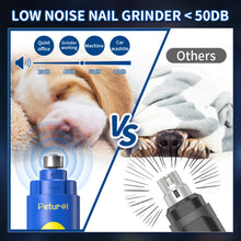 Load image into Gallery viewer, Petural Dog Nail Grinder, 2021 Upgraded Dog Nail Trimmer with Nail Clippers, 2 Speed Electric Pet Nail Grinder, Low Noise Painless Paws Grooming for Small Medium Large Breed Dogs and Cats
