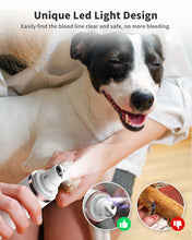 Load image into Gallery viewer, Petural Dog Nail Grinder with LED Light, 2021 Upgraded Powerful 3-Speed Electric Pet Nail Trimmer Painless Paw Smoothing, Grooming, Trimming Tool for Small Medium Large Dogs & Cats