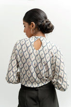 Load image into Gallery viewer, Peacock inspired workwear top