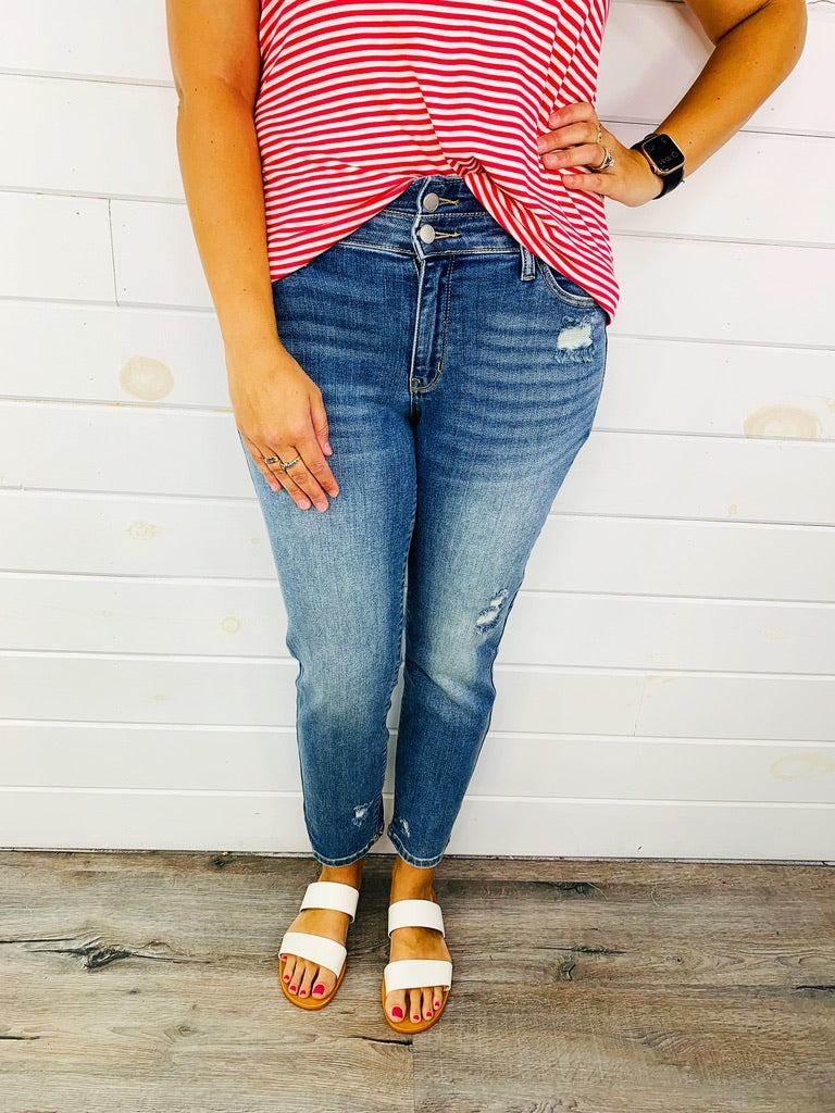 RESTOCK!! PLUS/REG Judy Blue Double Take Relaxed Jeans