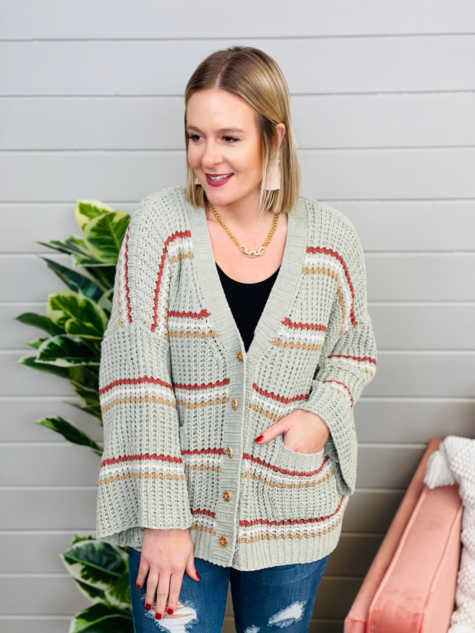 DOORBUSTER Style Me Up Button Cardi