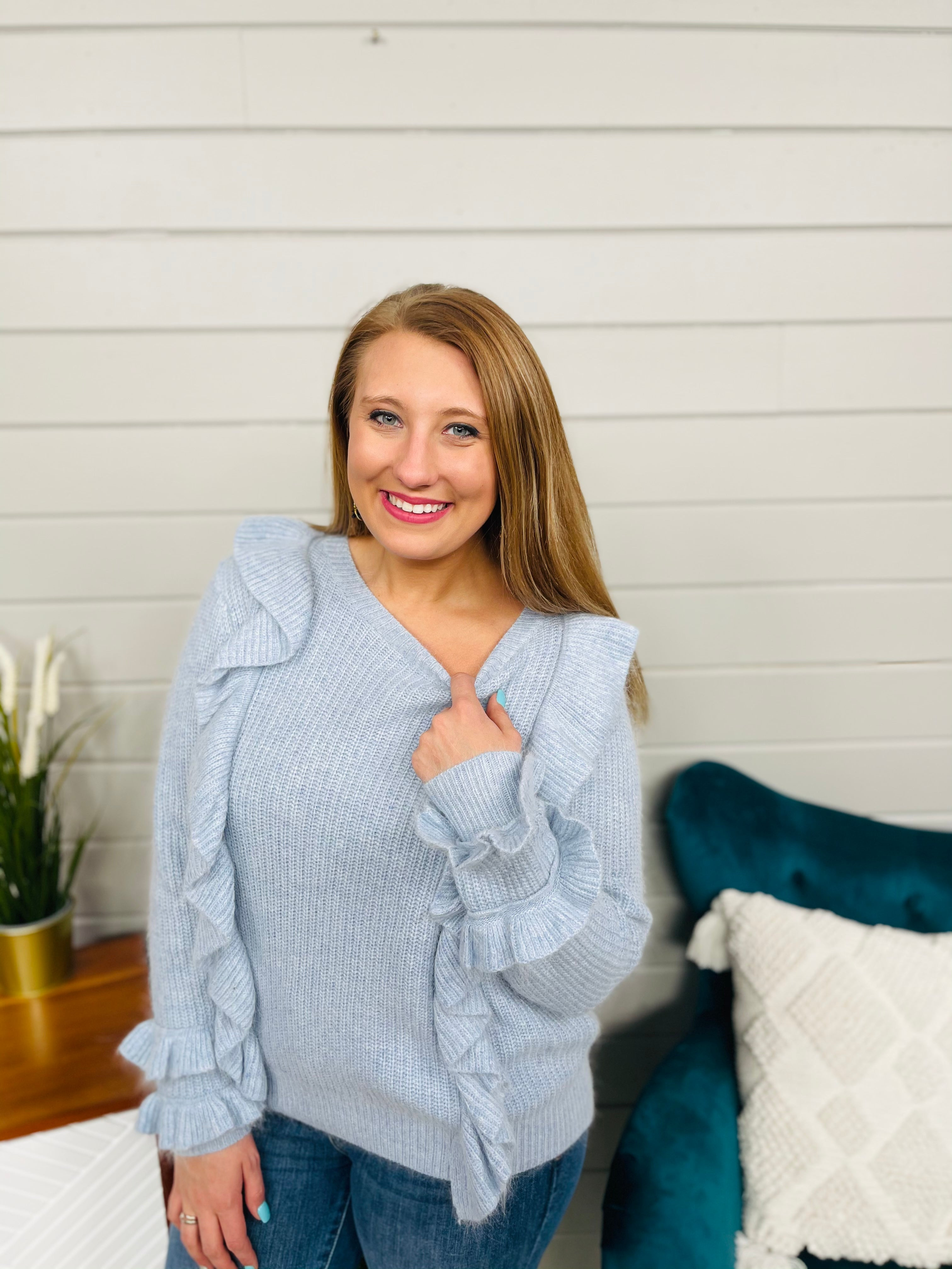 DOORBUSTER Shuffle And Ruffle Sweater- 2 Colors!