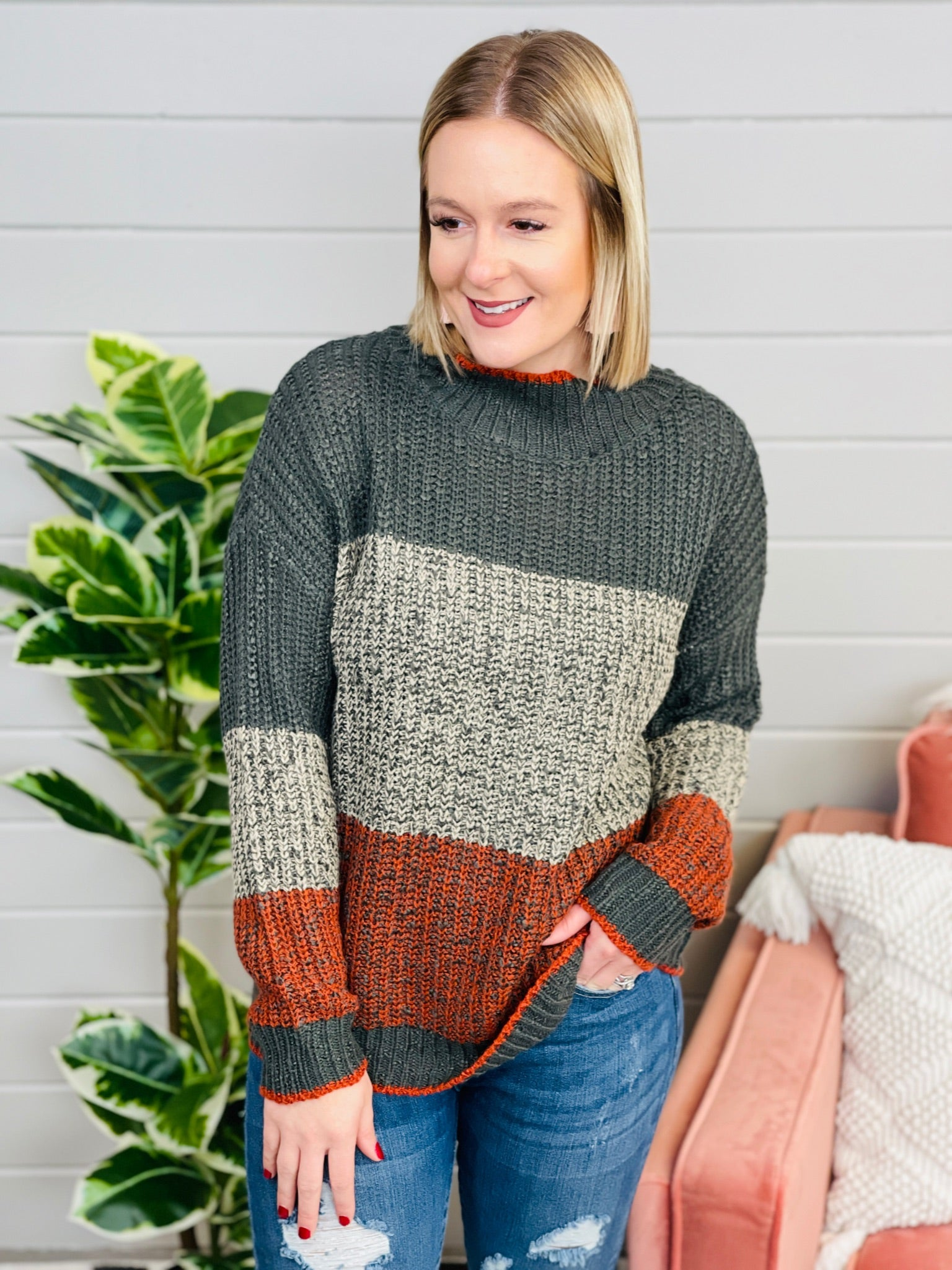 Weekend In The Woods Sweater- 2 Colors!