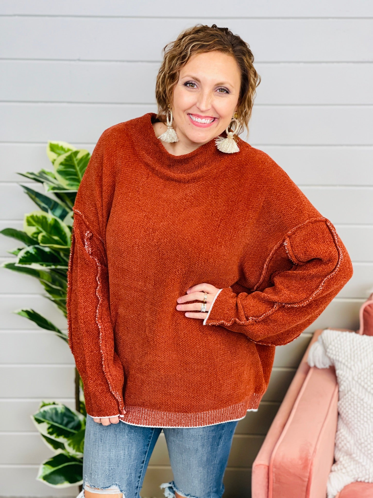 DOORBUSTER Sippin' At Sunset Sweater- 5 Colors!