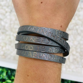 And God Is Able To Bless You Abundantly Wrap Bracelet- 2 Colors!