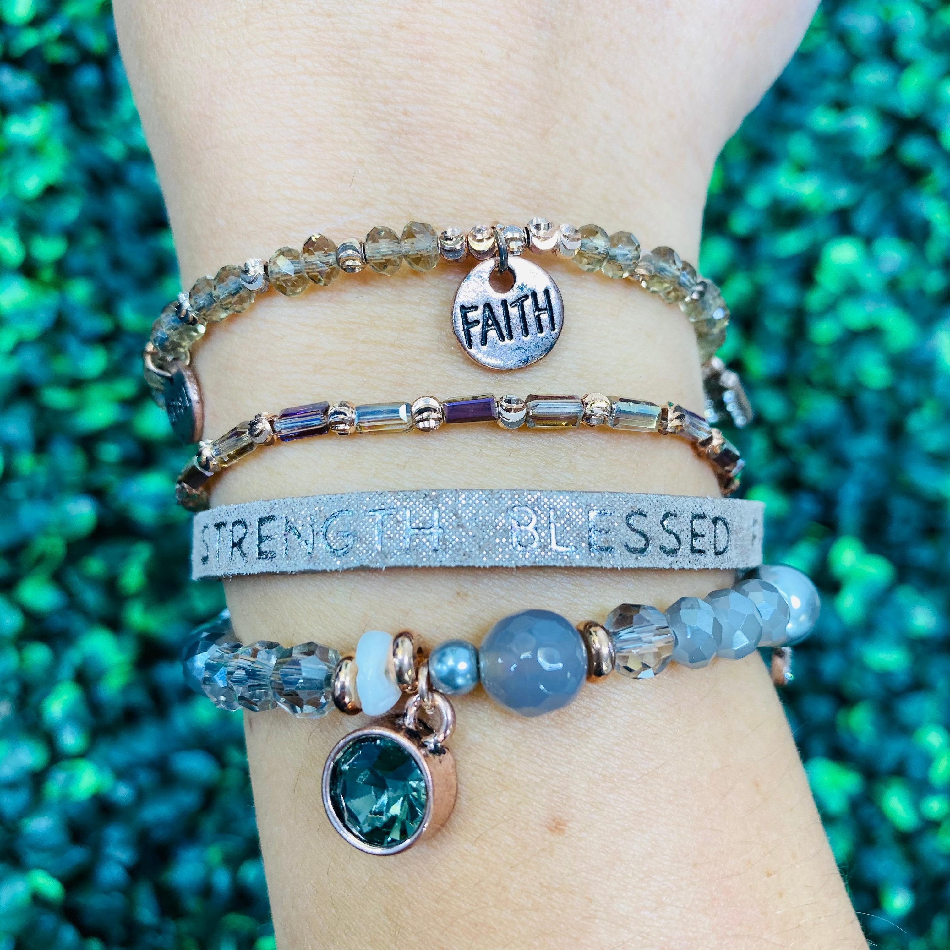 Hope Strength Blessed Faith Miracle Bracelet- 2 Colors!
