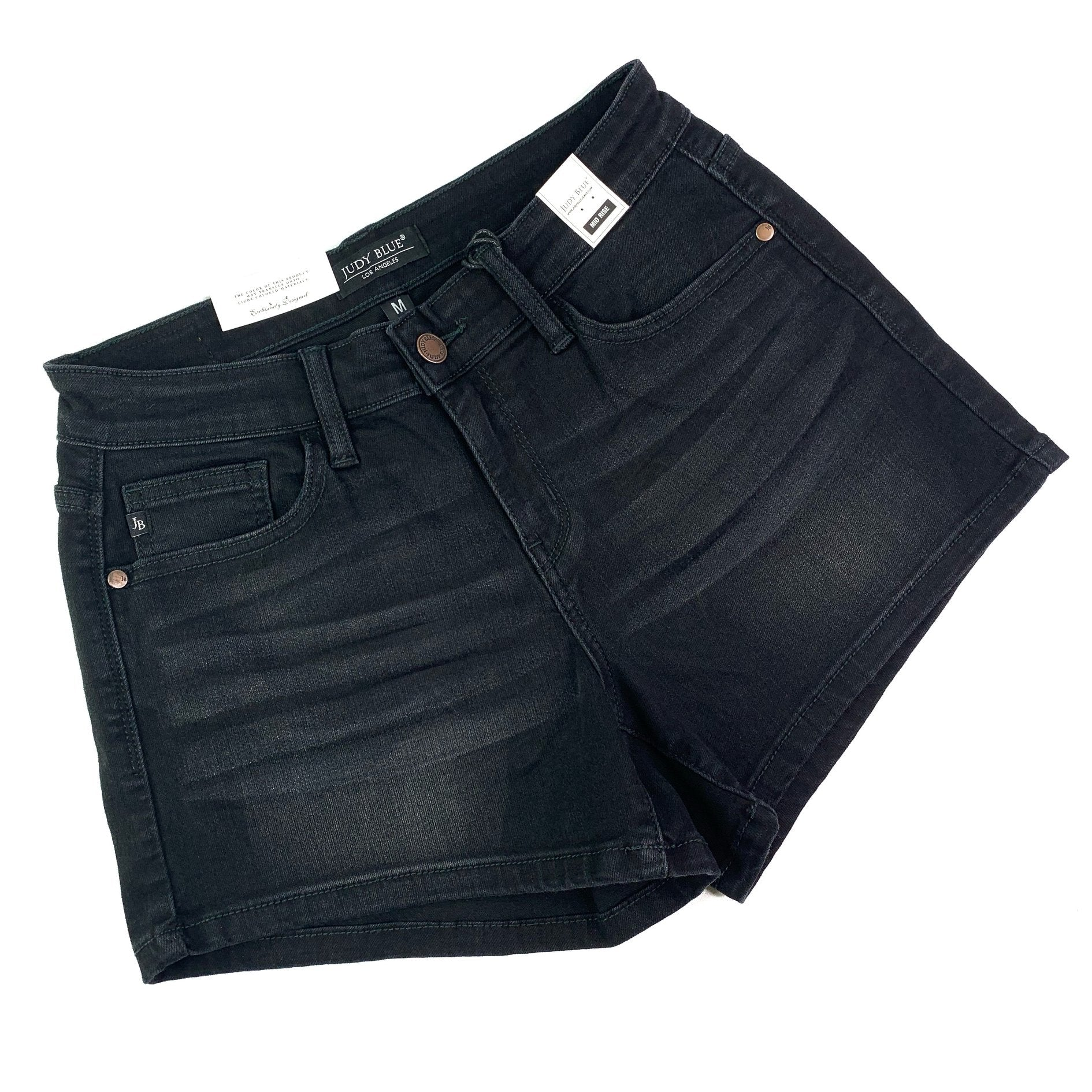 PLUS/REG Judy Blue Black List Nondistressed Shorts