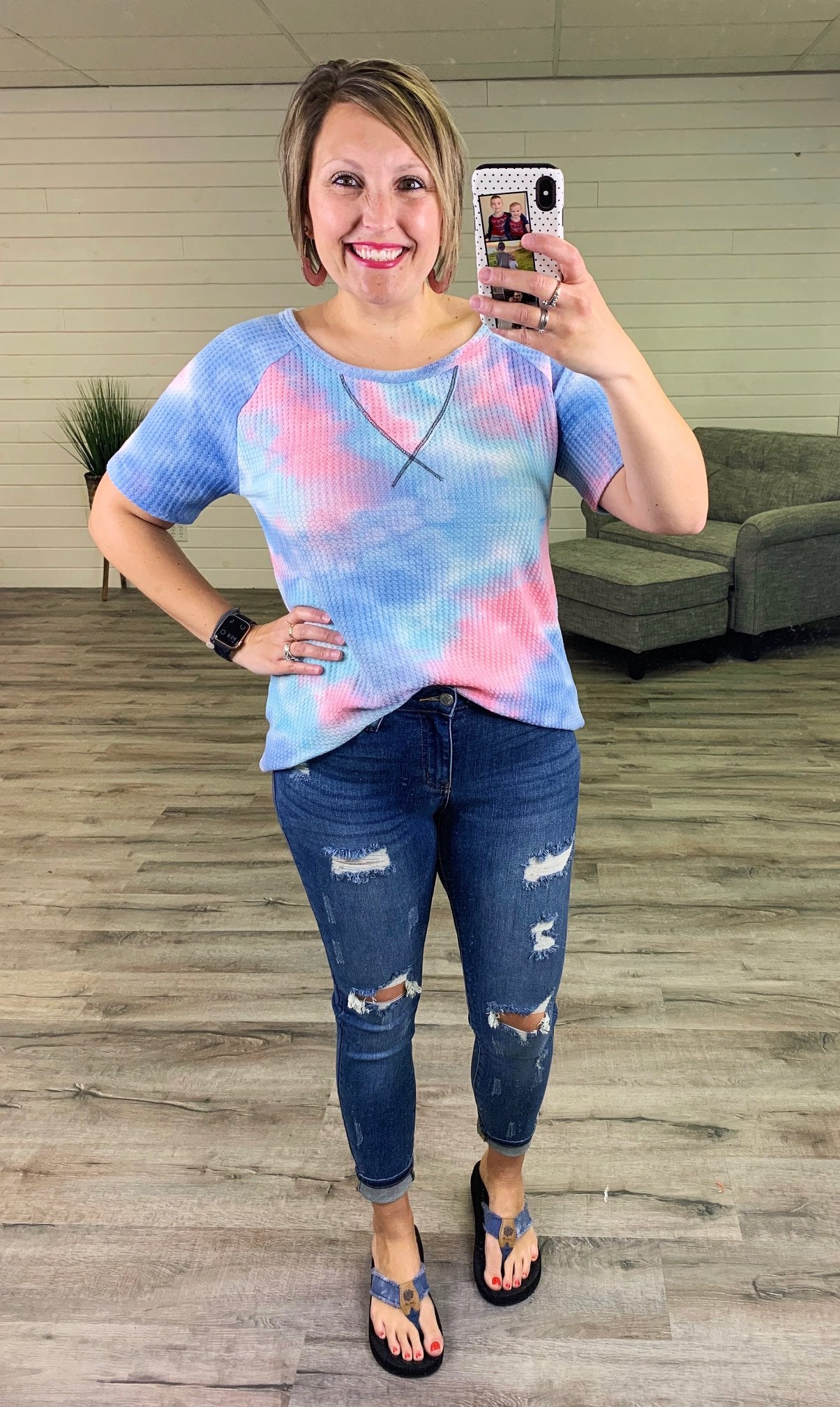 PLUS/REG Judy Blue Mid Rise and Grind Skinny Jeans