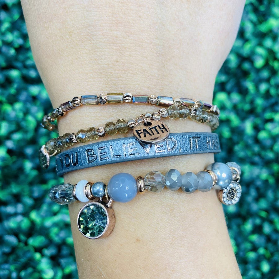 Because You Believed It Happened Bracelet- 2 Colors!