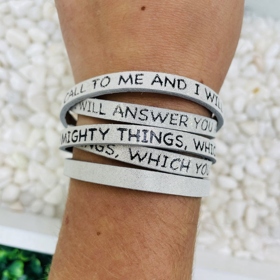 Call To Me And I Will Answer You Wrap Bracelet