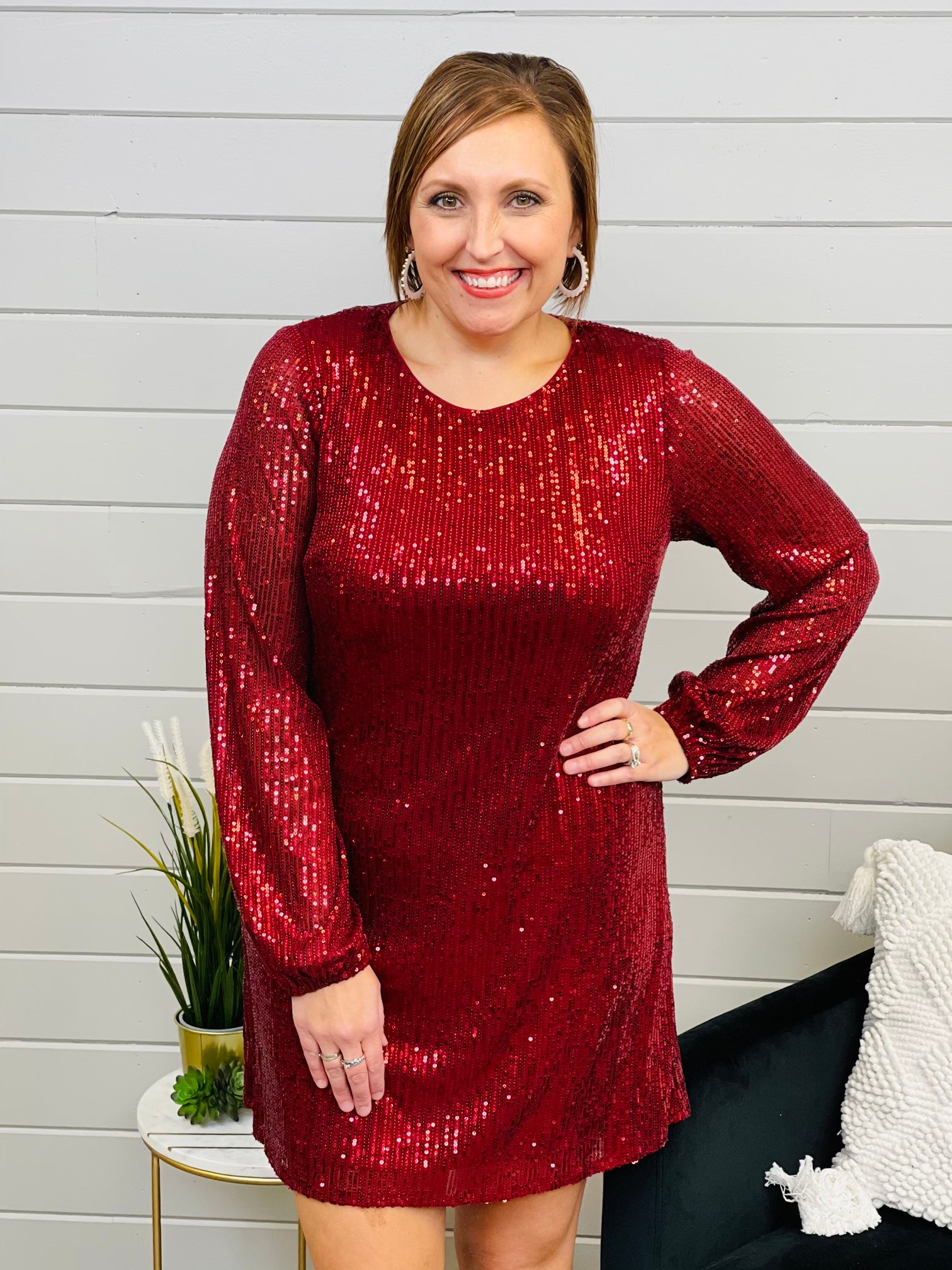 PLUS/REG Shine Down On Me Sequin Dress- 2 Colors!