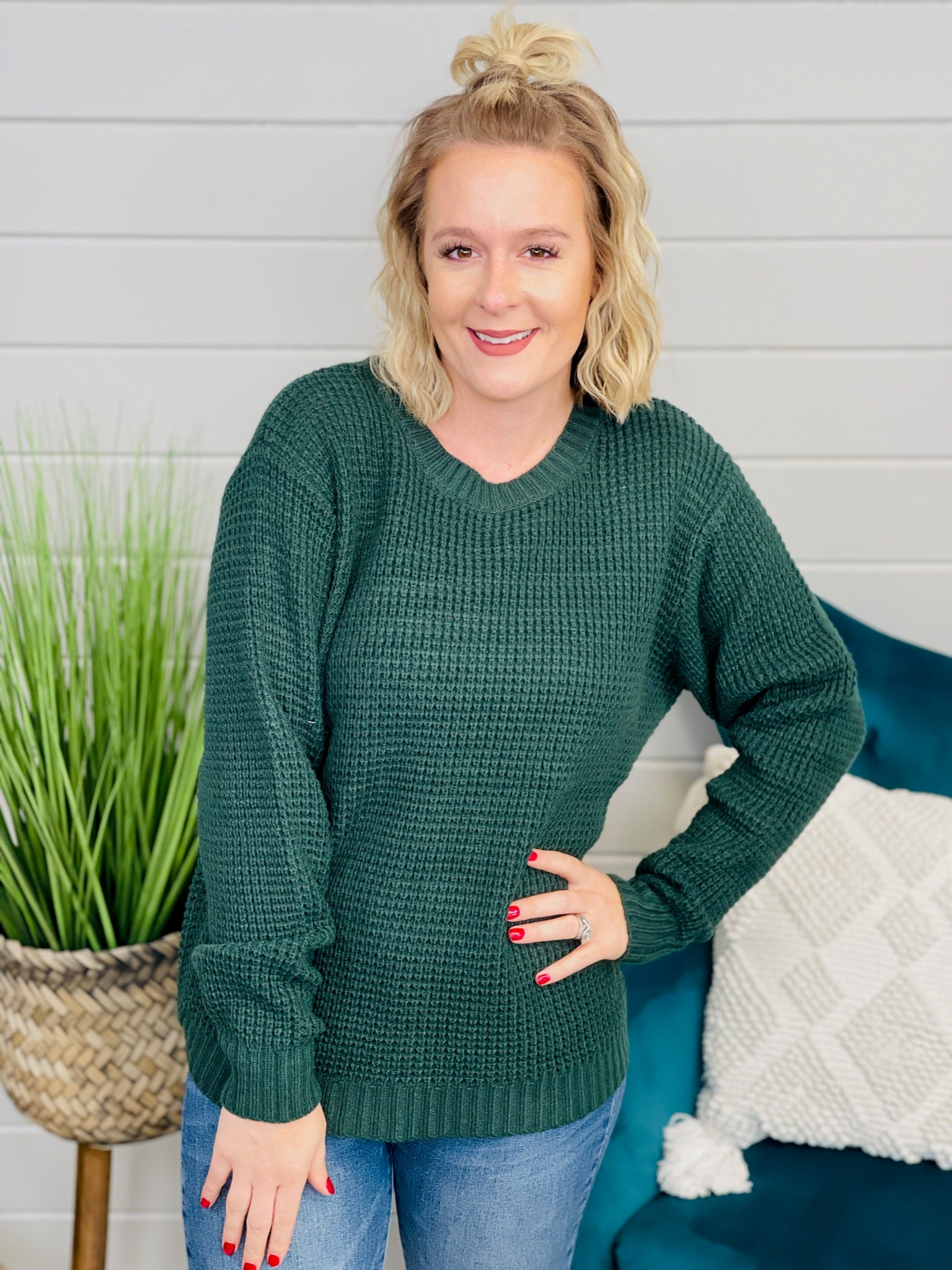DOORBUSTER PLUS/REG Everyday Babe Sweater- 4 Colors!