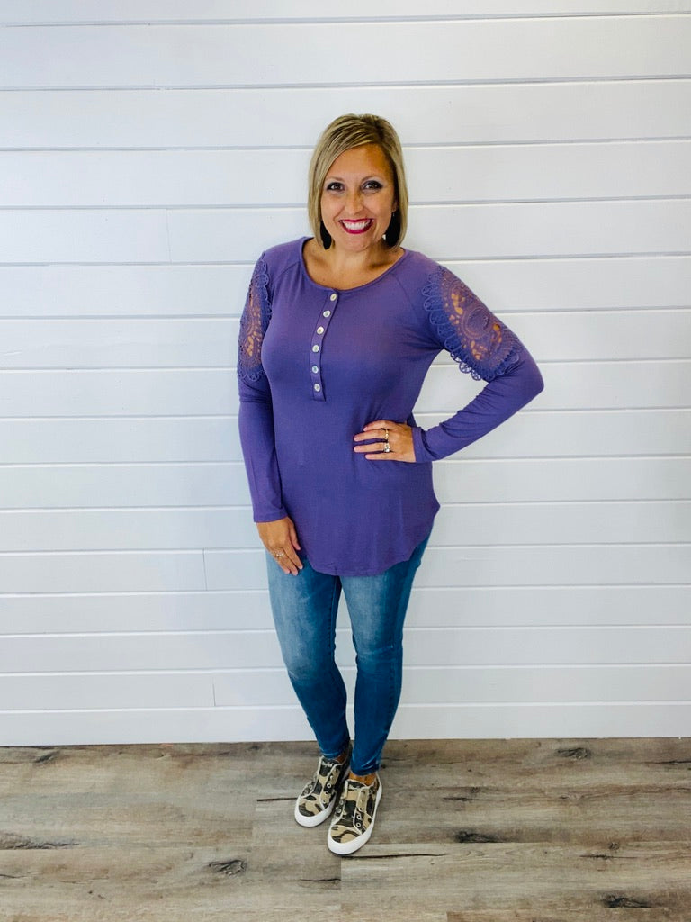 DOORBUSTER All Day In Crochet Top- 4 Colors!