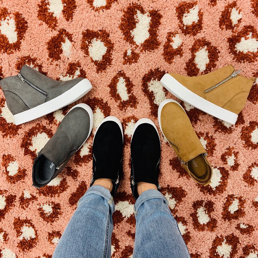 Restock! Best Selling Fall Into Comfort Sneaker Booties: Colors!