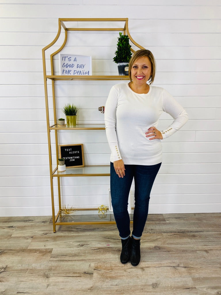 DOORBUSTER PLUS/REG The One And Only Button Sweater- 11 Colors!