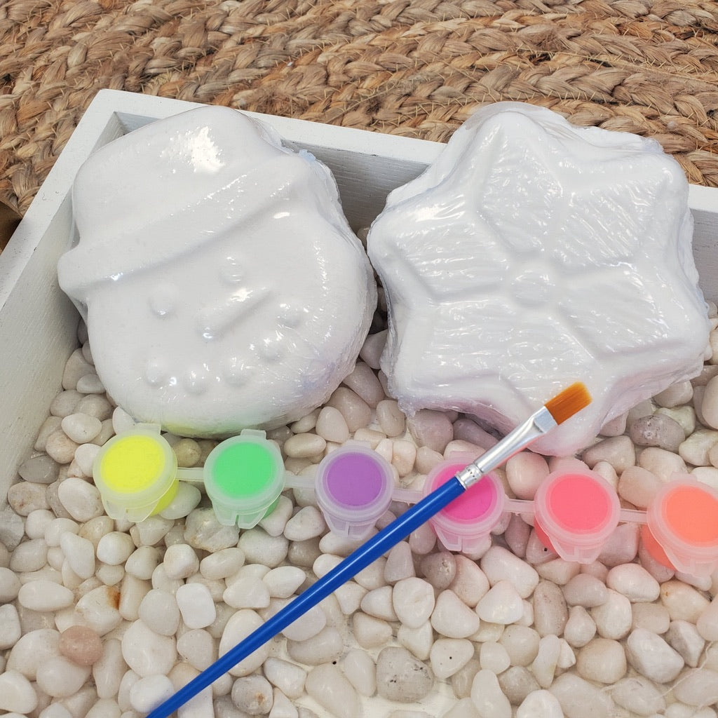 Holiday Two Pack Paint Your Own Bath Bomb- 4 Shapes!