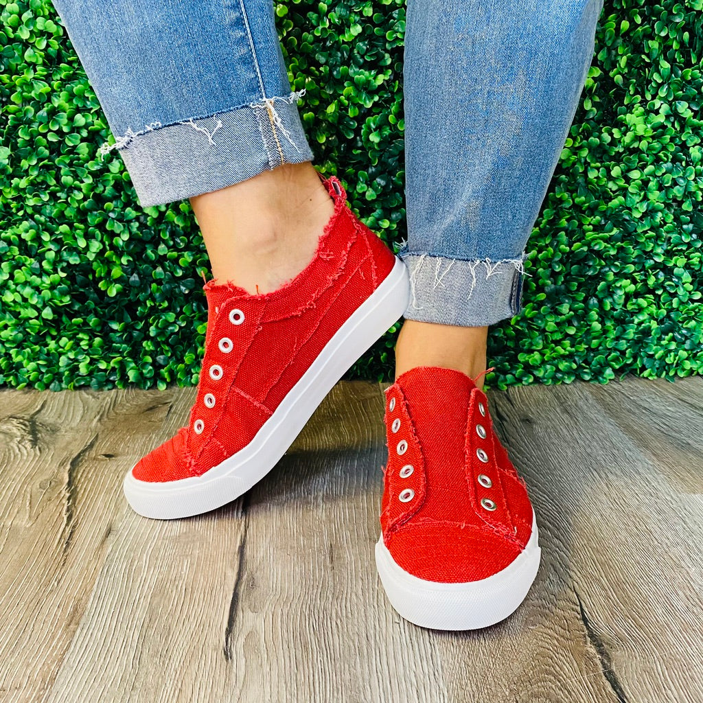 Corky's Red Slip On Sneakers