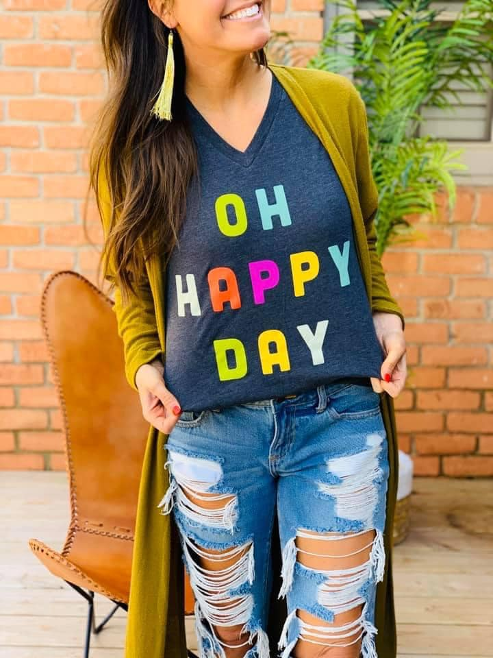 PREORDER Plus/Reg Oh Happy Day Tee
