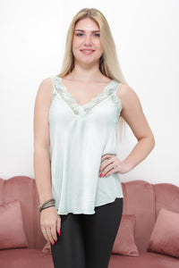 ANGEL LACE TOP mintgroen