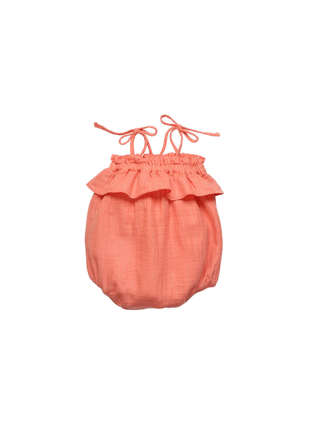 Claire baby coral romper