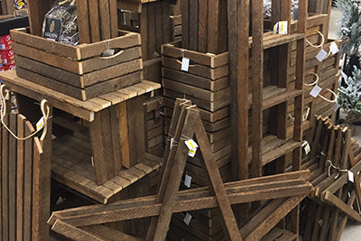 wooden apple crates