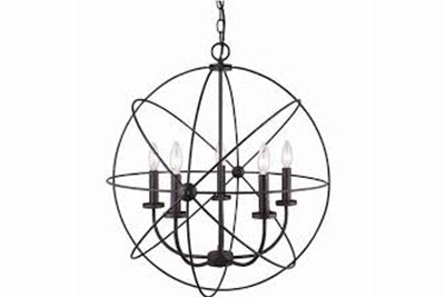 spherical wire chandelier