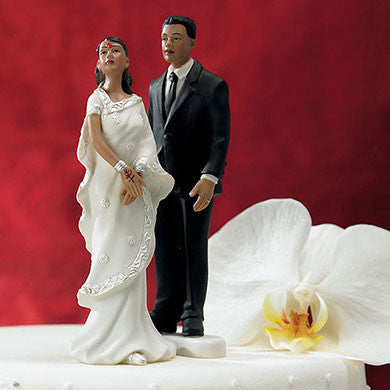 Indian Bride and Groom Cake Topper