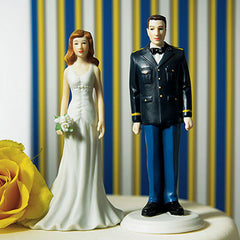 Military Solider and Wife Cake Topper