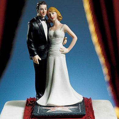 Hollywood Stars Couple Cake Topper