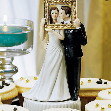 Picture Perfect Couple Cake Topper Light Skin Tone