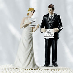 Read My Sign Couples Figurines Tied the Knot