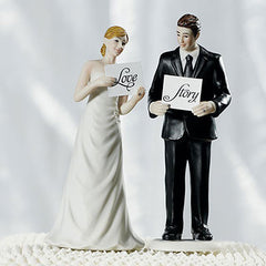 Read My Sign Couples Figurines Love Story