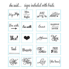 Signs Included with Read My Sign Wife Cake Topper