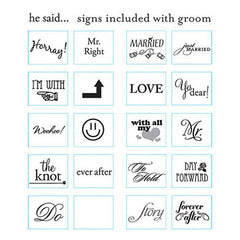 Signs Included with Read My Sign Husband Cake Topper