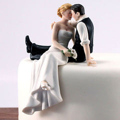 Romantic Couple Staring Eyes Cake Topper