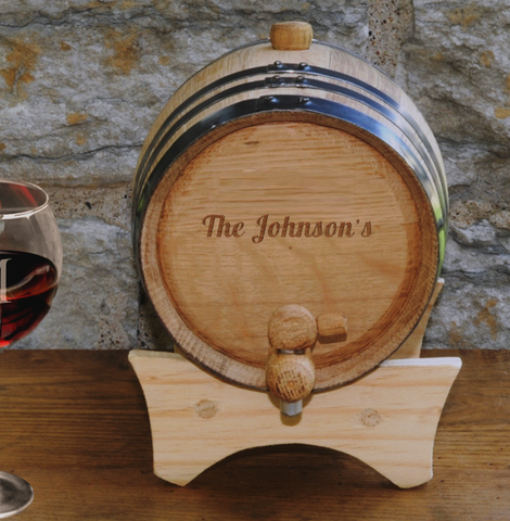 Personalized Mini-Oak Wine Cask