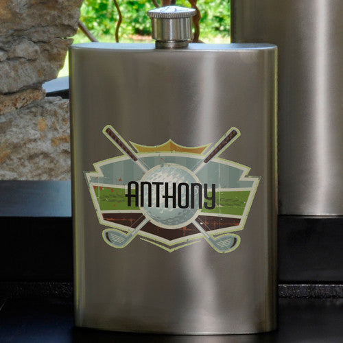 Personalized Golf Party Guy flask
