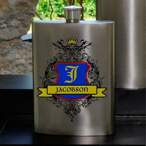 Personalized Crest Party Guy flask