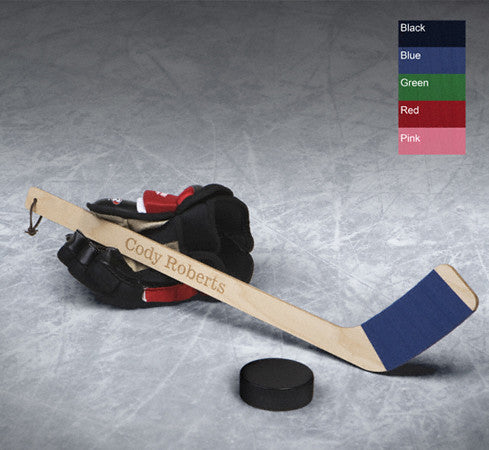 Personalized Hat Trick Mini Hockey Stick