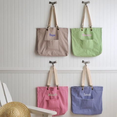 Personalized Pastel Tote Bag