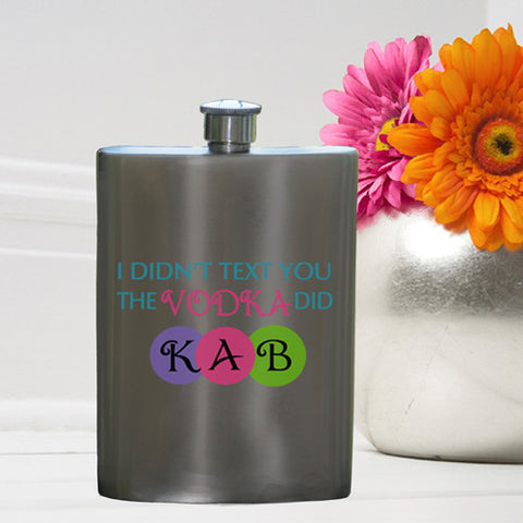 Personalized Texting Vodka Party Girl Flask